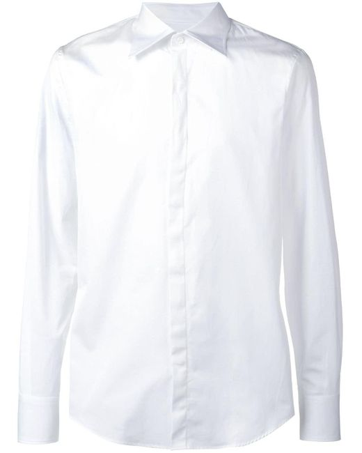 メンズ DSquared² スリムフィット シャツ White