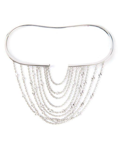 Gaydamak - White Line Fountain Hand Bracelet - Lyst