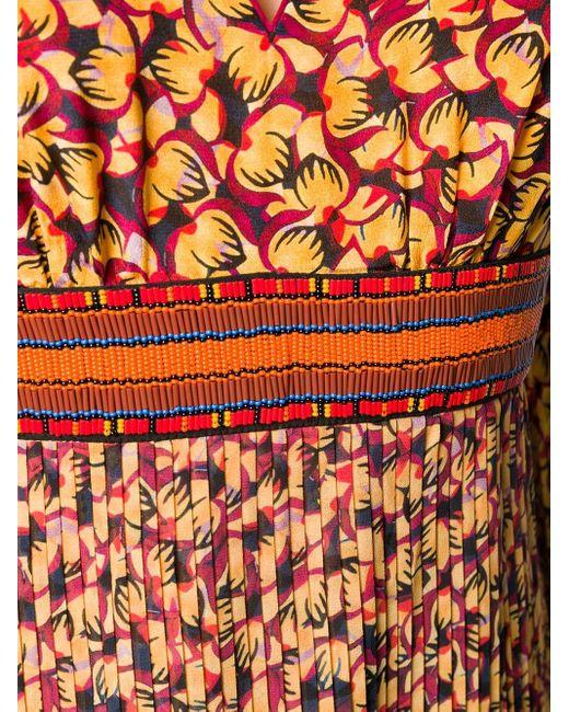 Платье Миди С Цветочным Принтом Saloni, цвет: Yellow