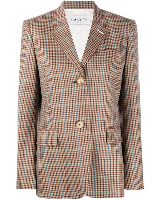 Lanvin チェック シングルジャケット Multicolor
