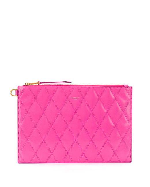 Givenchy キルティング クラッチバッグ Pink