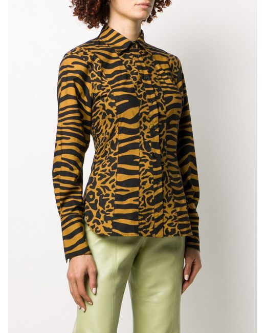 PROENZA SCHOULER WHITE LABEL タイガープリント シャツ Multicolor