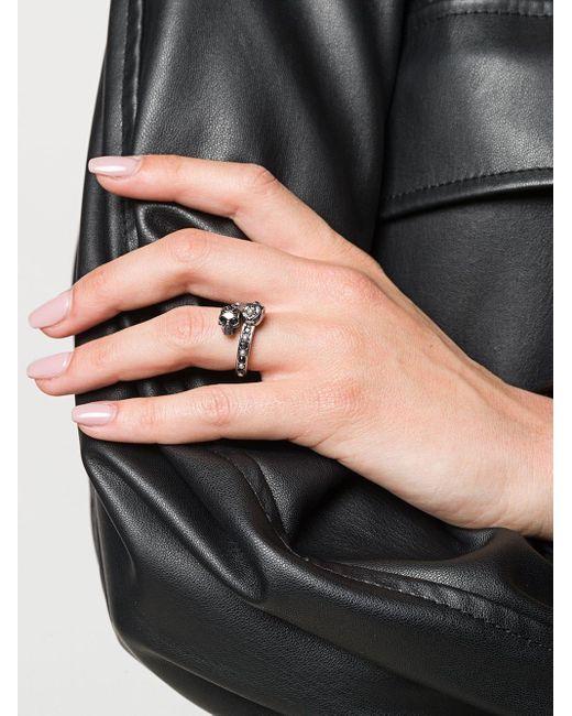Кольцо Skull Alexander McQueen, цвет: Metallic