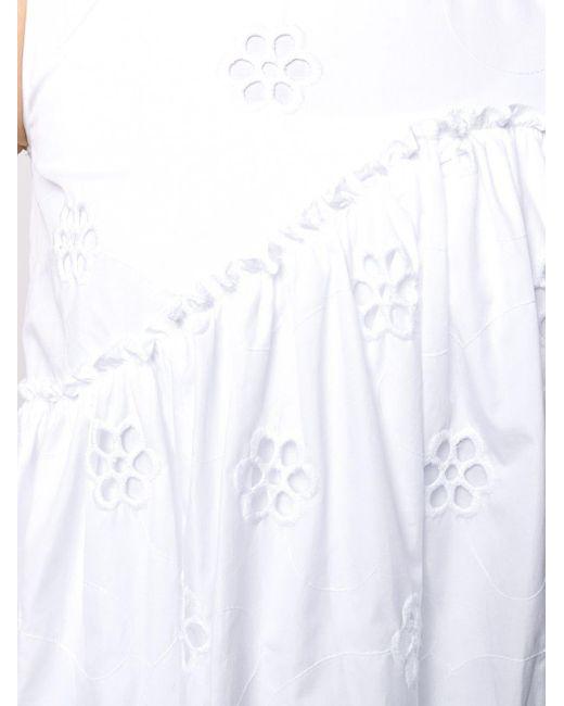 Simone Rocha フローラル ドレス White