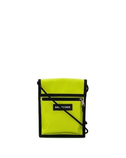 メンズ Balenciaga エクスプローラー ストラップ ポーチ Yellow