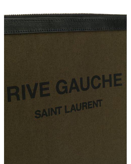 Клатч Rive Gauche Saint Laurent для него, цвет: Green