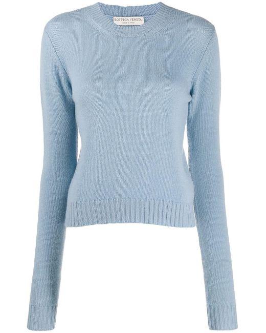 Bottega Veneta オープンニットセーター Blue