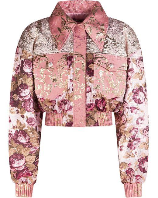 Жаккардовый Бомбер С Цветочным Узором Dolce & Gabbana, цвет: Pink