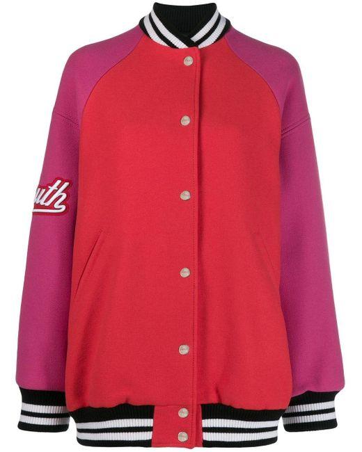 MSGM パネル ボンバージャケット Red