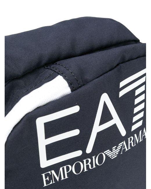 メンズ EA7 ロゴ メッセンジャーバッグ Blue