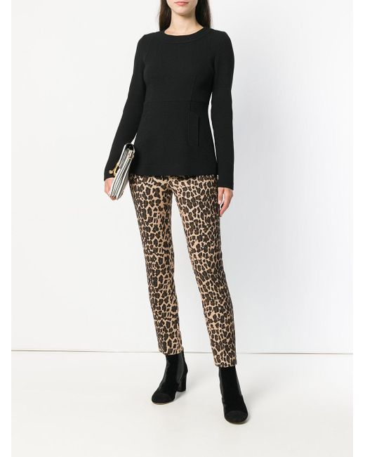 Fitted long sleeve blouse P.A.R.O.S.H. en coloris Black