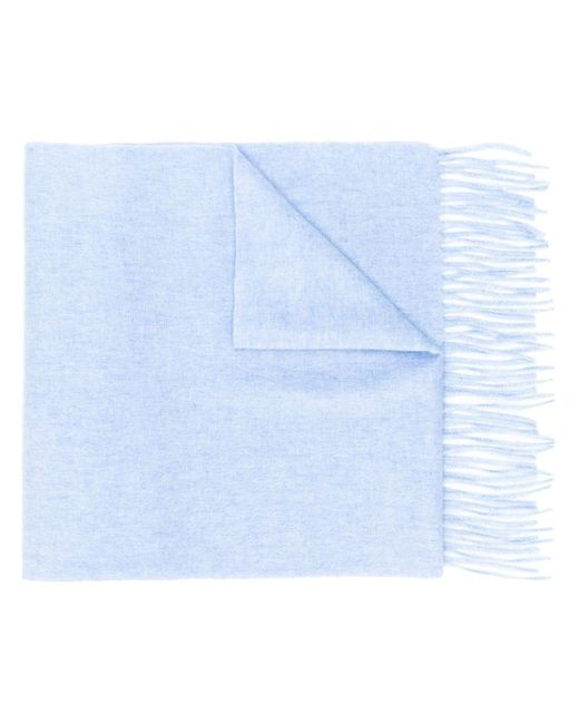 N.Peal Cashmere カシミア マフラー Blue