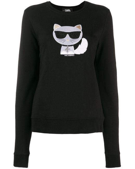 Karl Lagerfeld Ikonik Choupette セーター Black