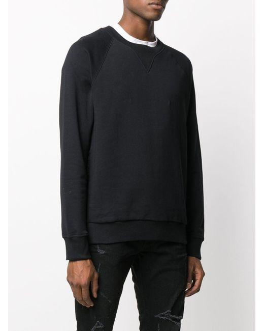 メンズ Balmain ラグランスリーブ スウェットシャツ Black