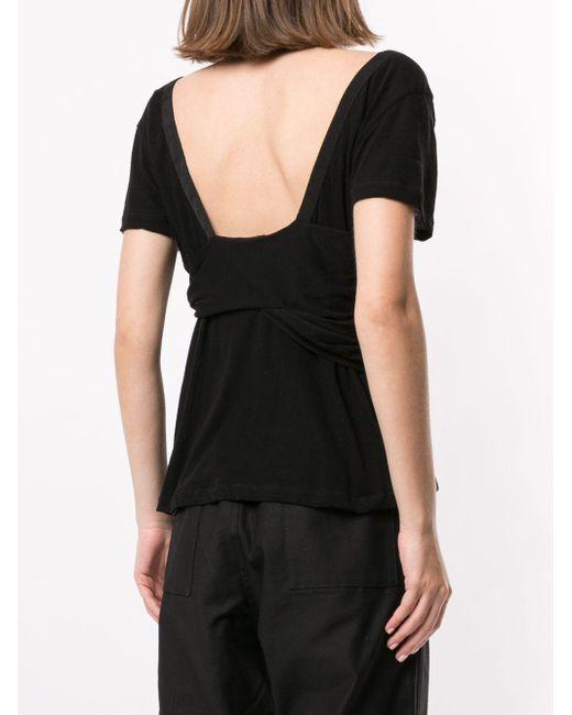 Unravel Project スクープネック Tシャツ Black