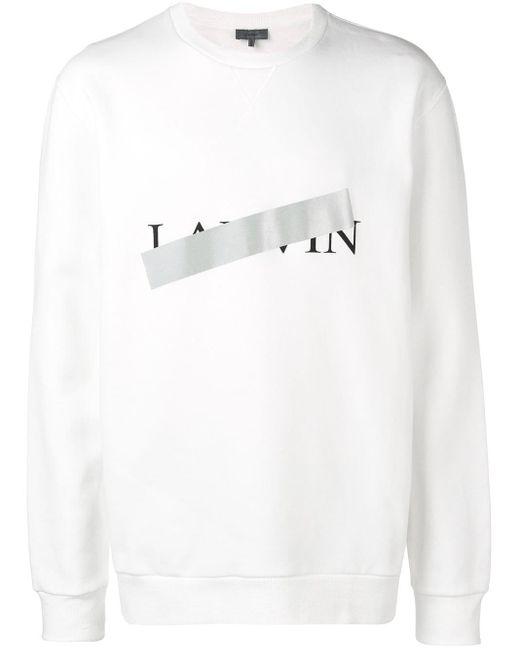 メンズ Lanvin プリント スウェットシャツ White