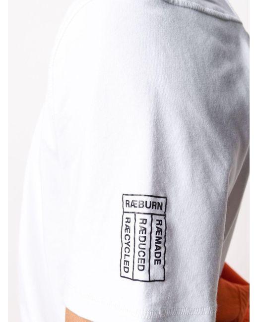 メンズ Raeburn ロゴ Tシャツ White