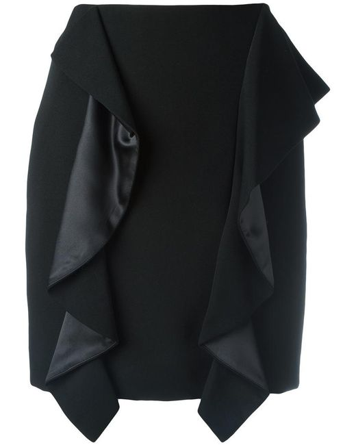 Givenchy | Black Draped Panel Mini Skirt | Lyst
