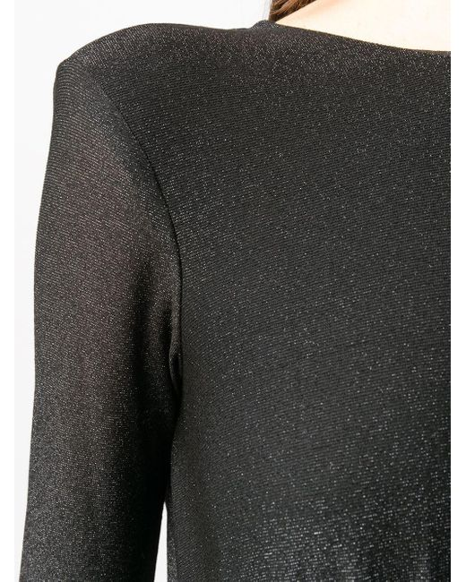 Elisabetta Franchi オープンバック ドレス Black