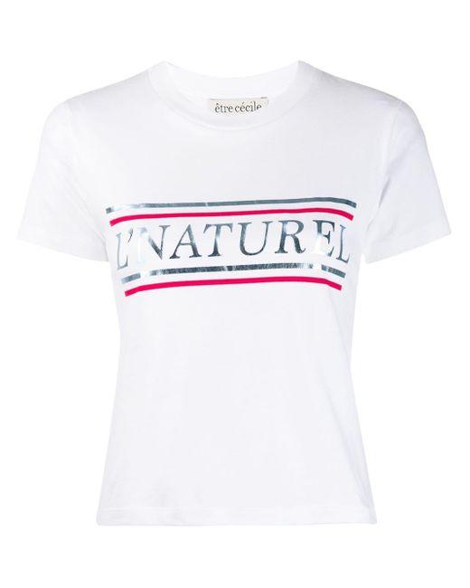 Être Cécile White Nature Printed T-shirt