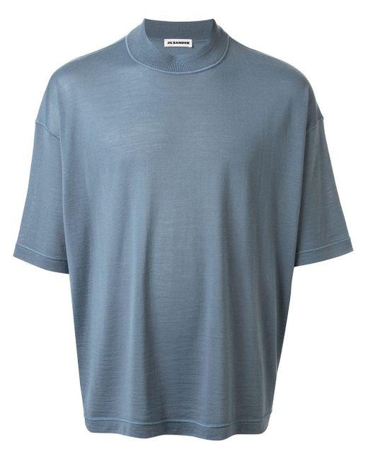 メンズ Jil Sander クルーネック Tシャツ Blue