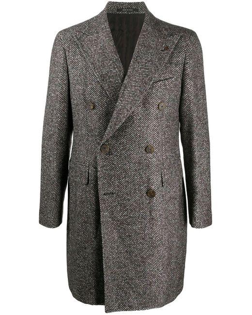 Manteau à boutonnière croisée Tagliatore pour homme en coloris Brown