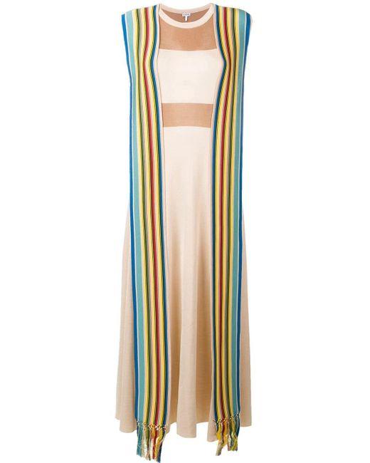 Loewe ストライプ ニットドレス Multicolor