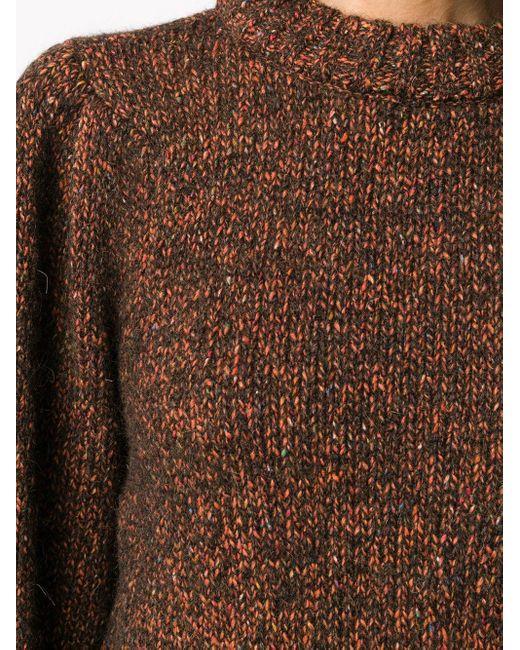 Джемпер С Рукавами Три Четверти Anine Bing, цвет: Brown