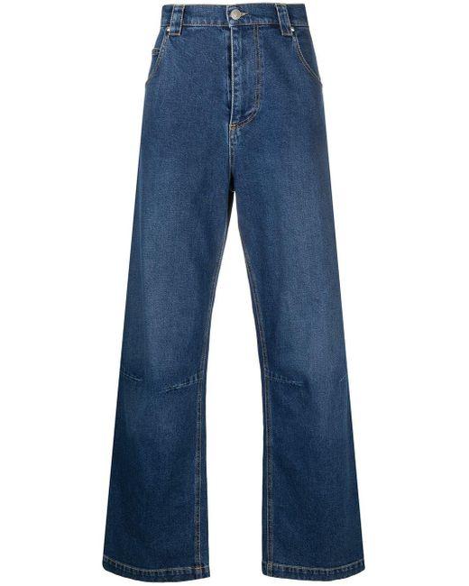 メンズ MSGM ファイブポケット ワイドジーンズ Blue