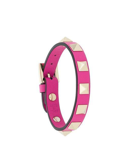 Valentino - Pink Garavani Rockstud Bracelet - Lyst