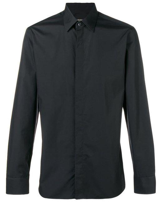 Ermenegildo Zegna - Black Plain Button Shirt for Men - Lyst