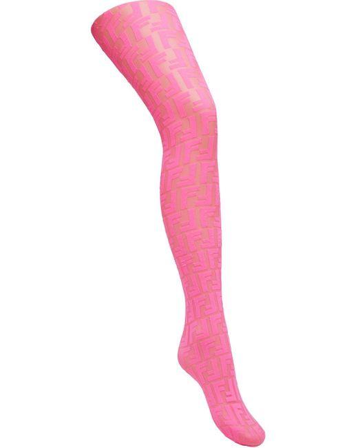 Fendi プリント Ff タイツ Pink