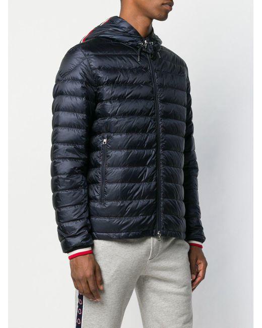 Veste matelassée à capuche Moncler pour homme en coloris Blue