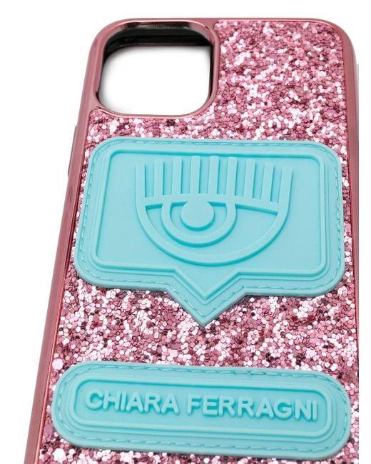 Чехол Для Iphone 11 С Блестками Chiara Ferragni, цвет: Pink