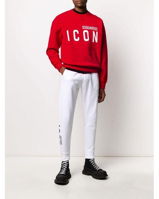 メンズ DSquared² スローガン スウェットシャツ Red