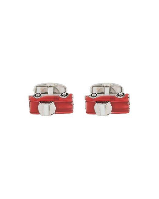 Эмалированные Запонки В Виде Машин Paul Smith для него, цвет: Red