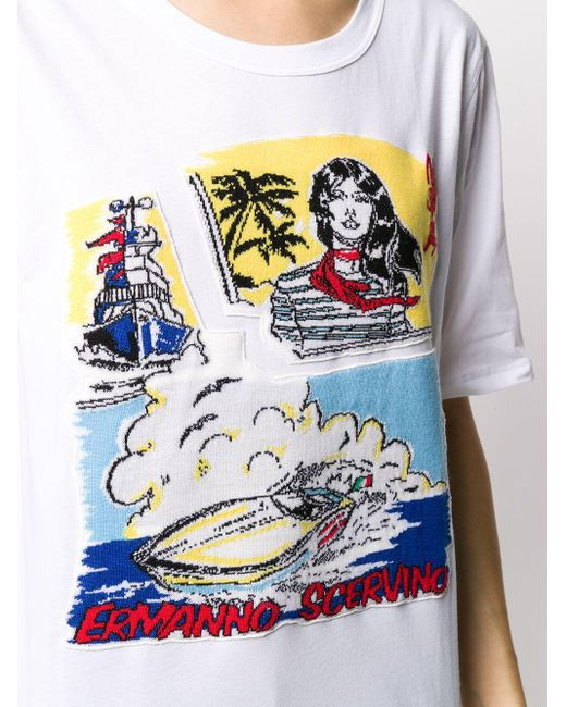 Ermanno Scervino プリント Tシャツ White
