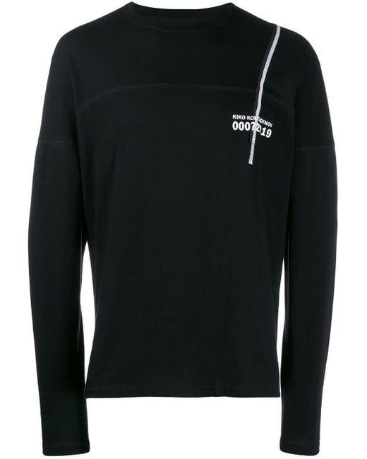 メンズ Kiko Kostadinov グラフィック ロングtシャツ Black