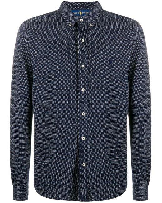 Camisa con diseño de lunares Polo Ralph Lauren de hombre de color Blue