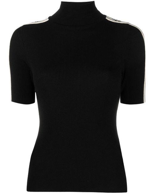 Off-White c/o Virgil Abloh Black Logo Stripe Knitted Top