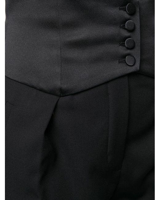 Saint Laurent Black Hose mit Kummerbund