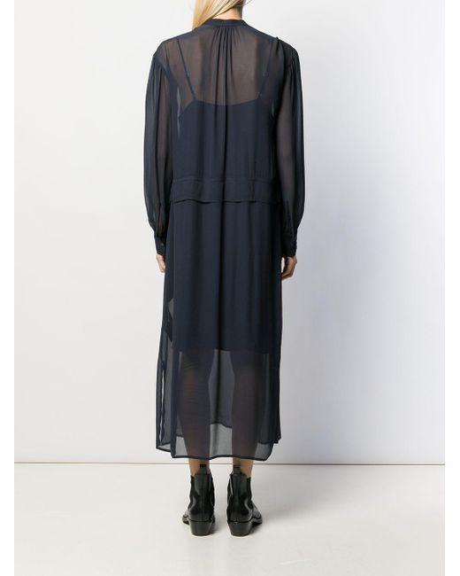Calvin Klein シアー ドレス Blue