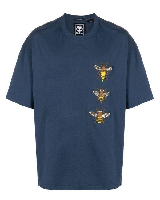 T-shirt con stampa grafica di Timberland in Blue da Uomo