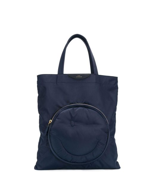 Anya Hindmarch Chubby Wink トートバッグ Blue