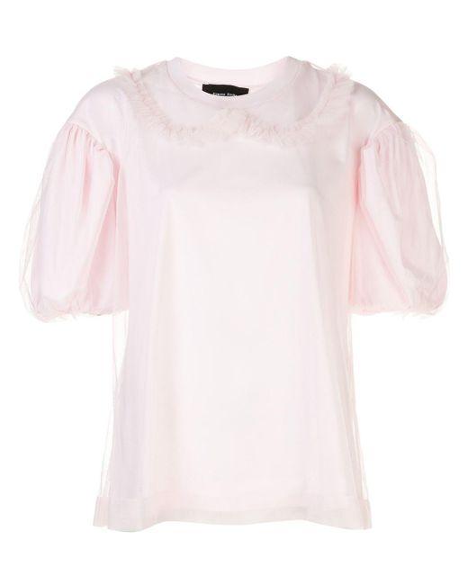 Simone Rocha パフスリーブ Tシャツ Pink