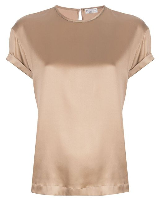 Brunello Cucinelli クルーネック Tシャツ Natural