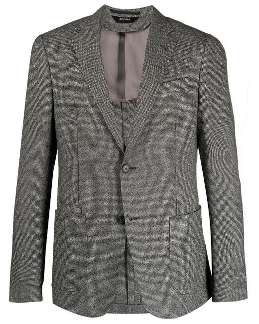 メンズ Z Zegna パッチポケット シングルジャケット Gray