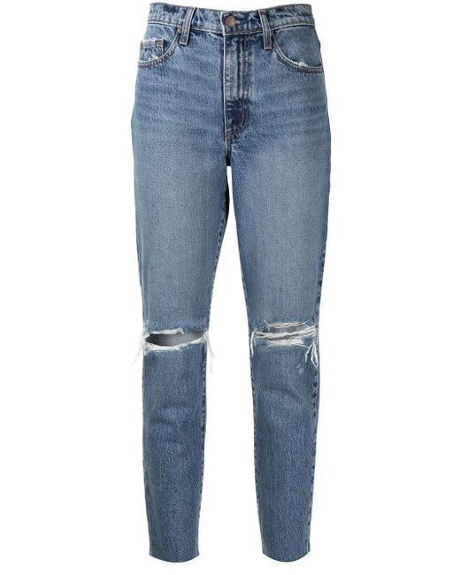 Jeans crop Bessette di Nobody Denim in Blue