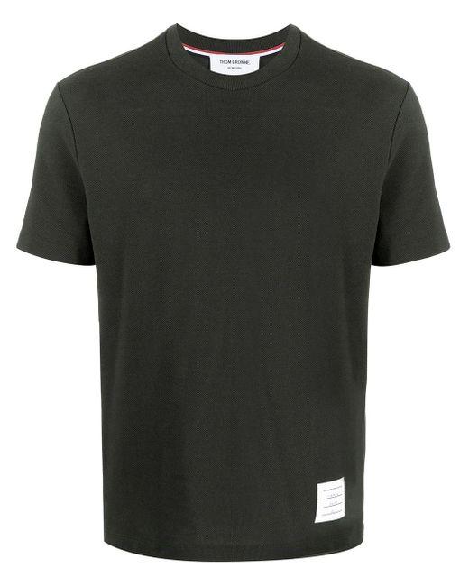 メンズ Thom Browne 4bar ストライプ Tシャツ Green