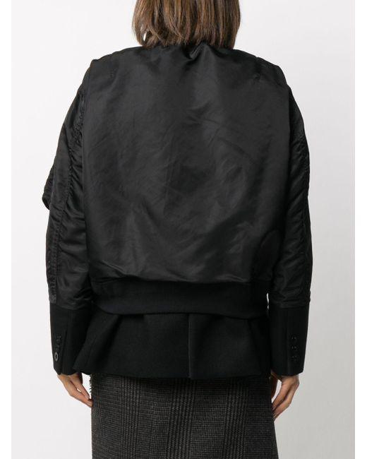 Sacai ボンバージャケット Black